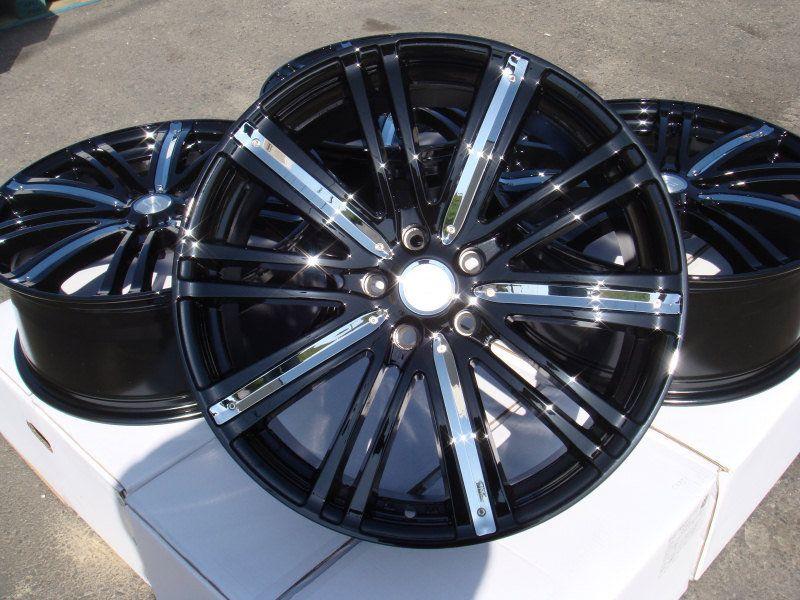 17 Black Wheels Rims 5 Lugs Acura Legend Dodge Stratus Ford Mustang