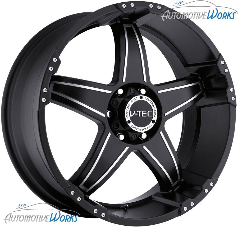 18x9 V Tec Wizard 8x170 12mm Matte Black Wheels Rims inch 18