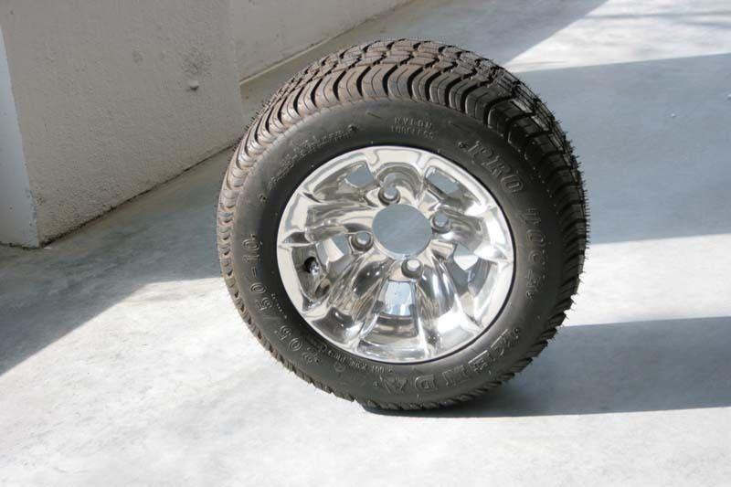 Cart Tires and New 10 Aluminum Wheels EZGO Club Car Yamaha