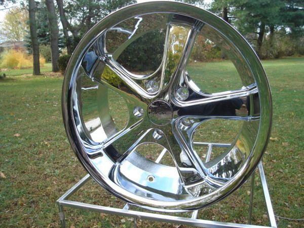 VN701 American Racing 17x8 ChromeNova Wheel Vintage Chevy Ford Mopar