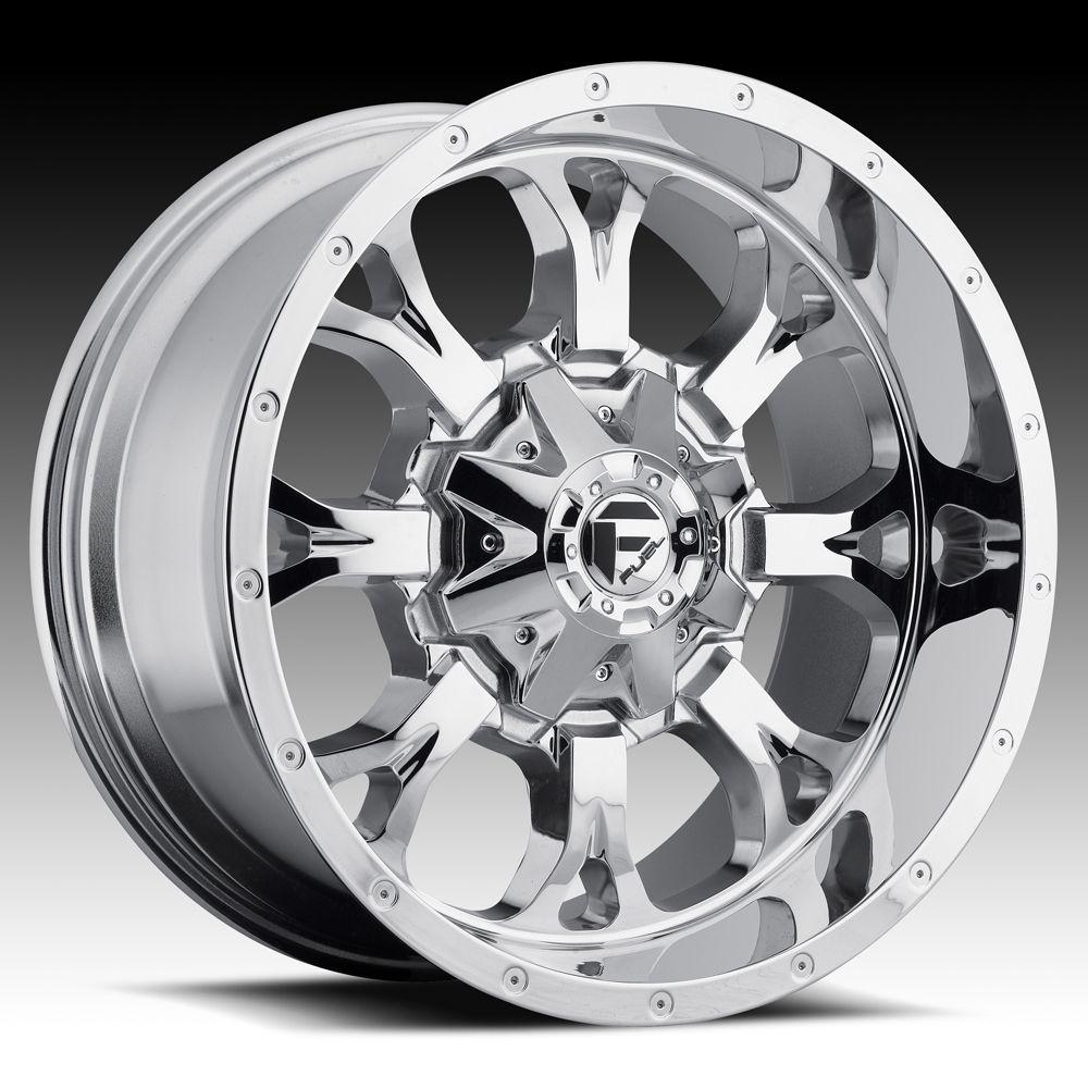20x10 Krank XD 20 inch Chevy Ford Dodge Chrome Wheels Rims Set