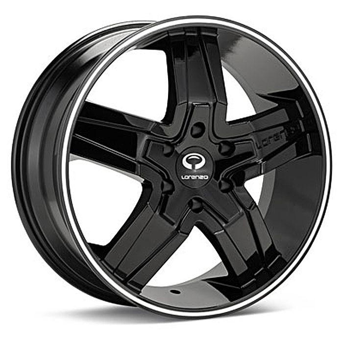 20 Lorenzo L030 Black Wheel Set Rims 5LUG Vehicles Camaro Mercedes