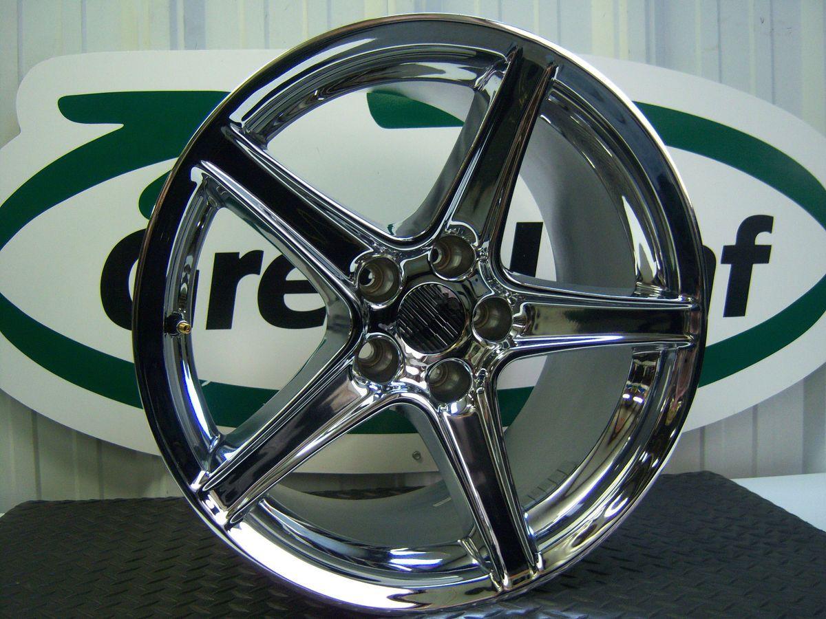 Ford Mustang Saleen 18x10 5 Spoke Chrome Wheel Rim 2004 x1 Aluminum