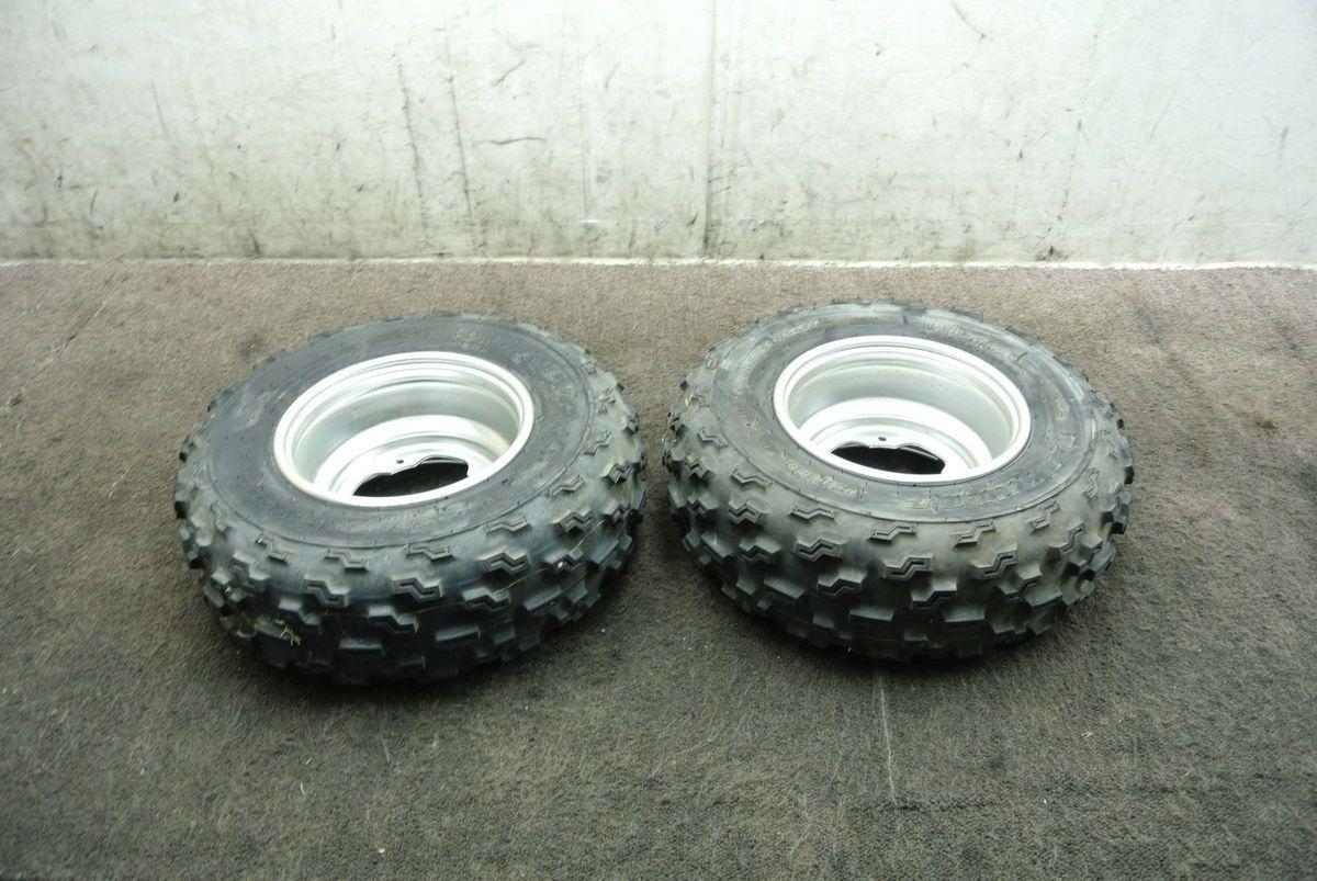 2004 04 Yamaha YFZ450 YFZ 450 Front Wheel Set Rims Tires Wheels