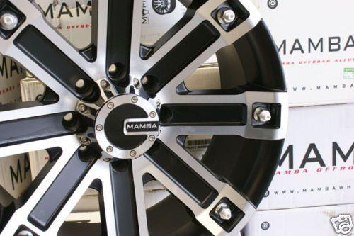 22 x 9 5 Mamba Ford F250 F350 Black Wheels Rims 8x170
