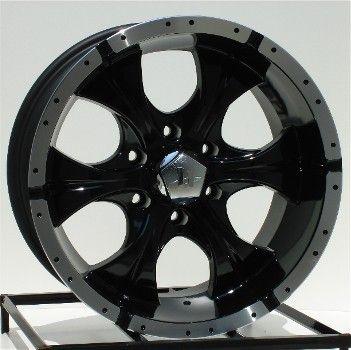 17 inch Black Wheels Rims Dodge RAM Durango 5 Lug Helo