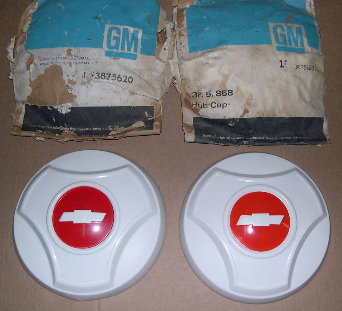 GM 1964 66 Chevy Truck Hub Caps Painted 1 2 Ton Pickup 3875620